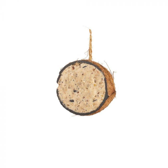 Gefüllte Kokosnuss mit Erdnussbutter