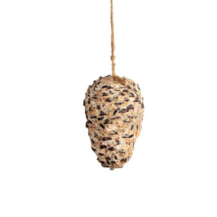 Kiefernzapfen mit Erdnussbutter