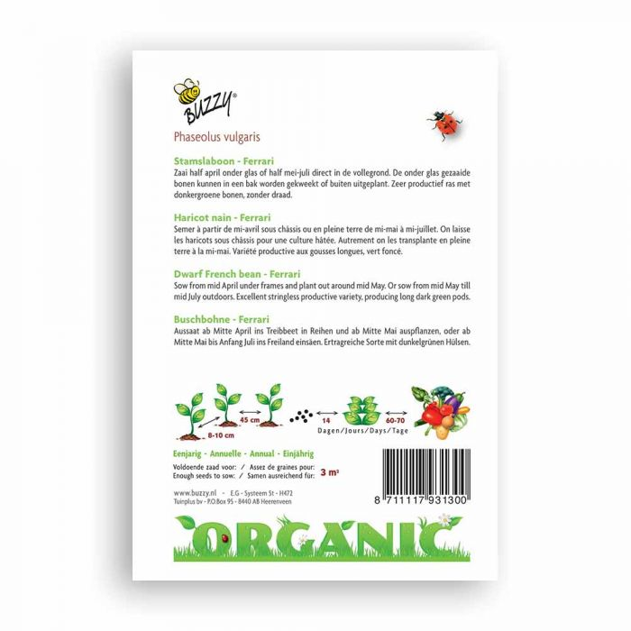 Buzzy® Organic Buschbohne Ferrari(BIO)