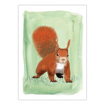 """Grußkarte """"Eichhörnchen"""" – Myrte"""