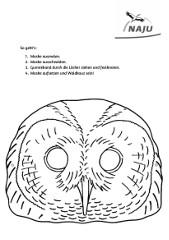 Maske Waldkauz