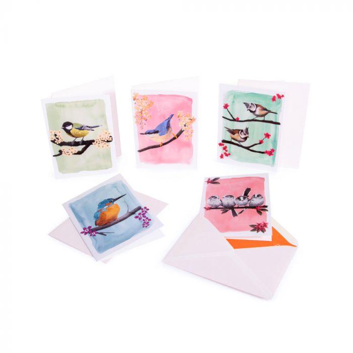 Grußkarten-Set – Myrte (1 x 5 Designs)