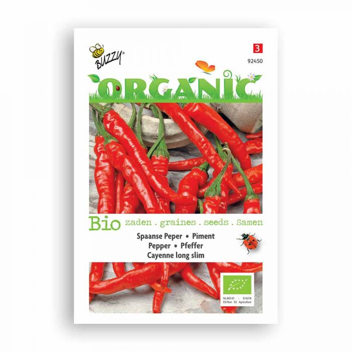 Buzzy® Organic Pfeffer Cayenne long slim