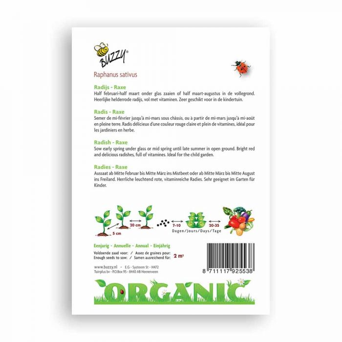 Buzzy® Organic Radieschen Raxe (BIO)
