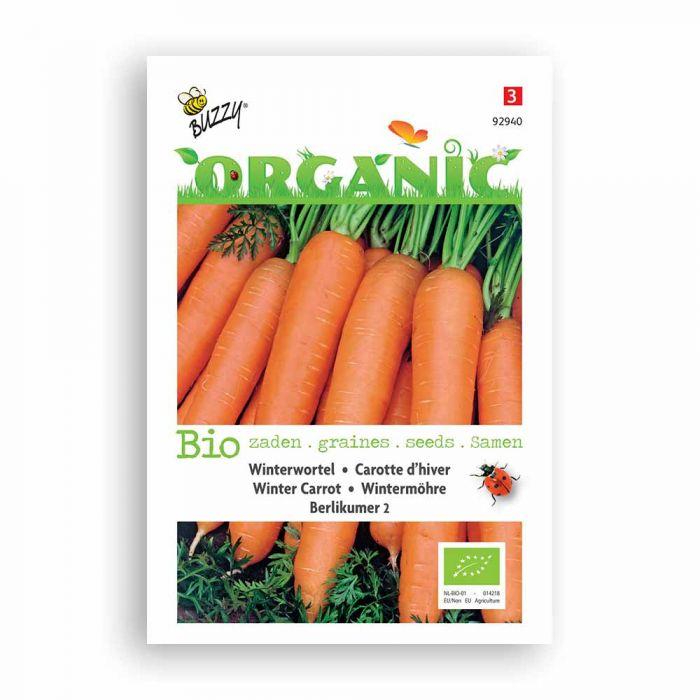 Buzzy® Organic Wintermöhre lang, rot, stumpf, ohne Herz