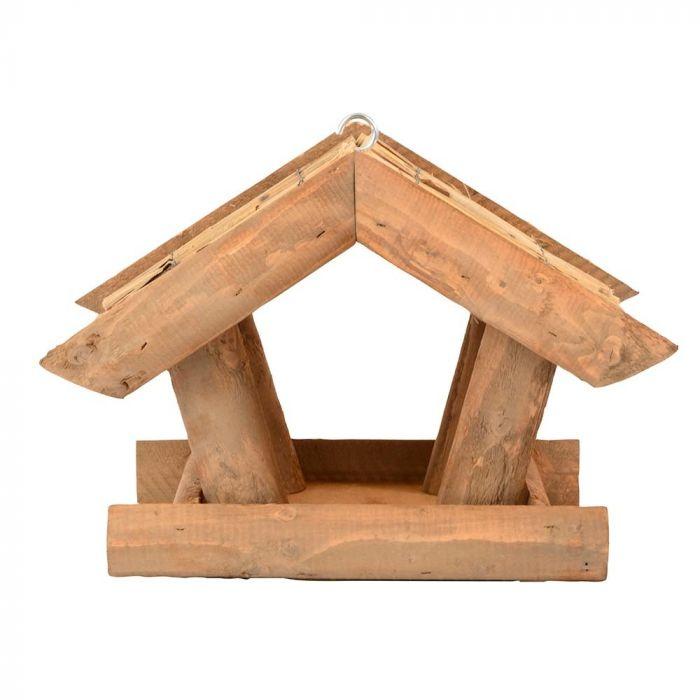 Hängendes Futterhaus mit Reetdach
