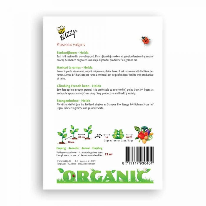 Buzzy® Organic Stangenbohne Hilda (BIO)