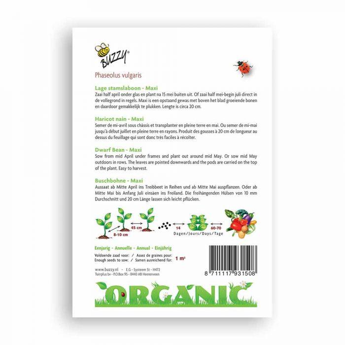 Buzzy® Organic Buschbohne Maxi(BIO)