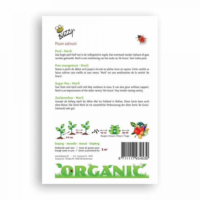 Buzzy® Organic Zuckererbse Norli(BIO)