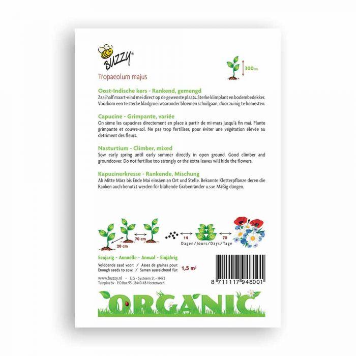 Buzzy® Organic Kapuzinerkresse Rankende Mischung (BIO)