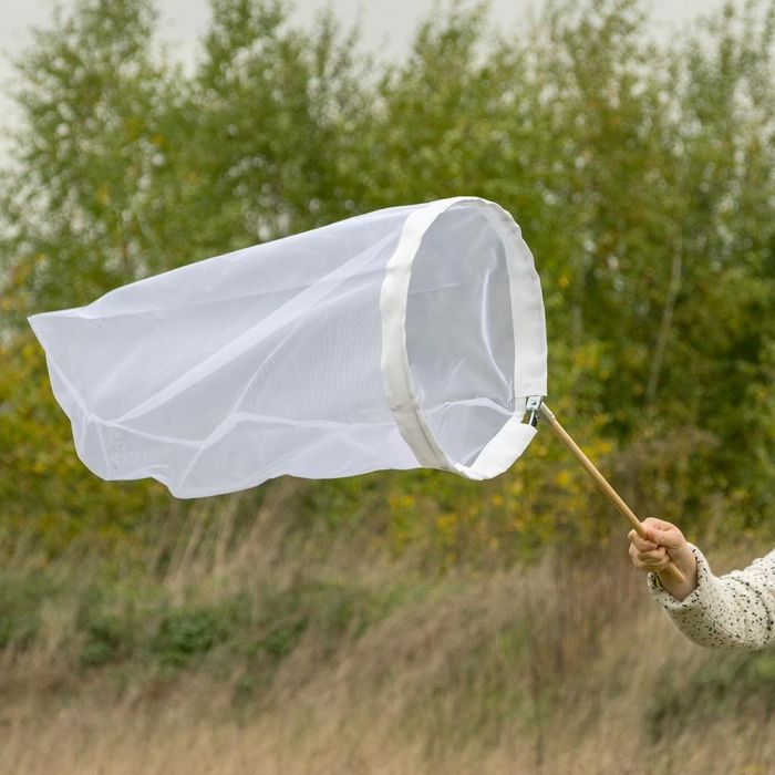 Schmetterlingsnetz weiss 40 cm - aufklappbarer Bügel