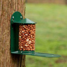 Eichhörnchen-Futterautomat rund