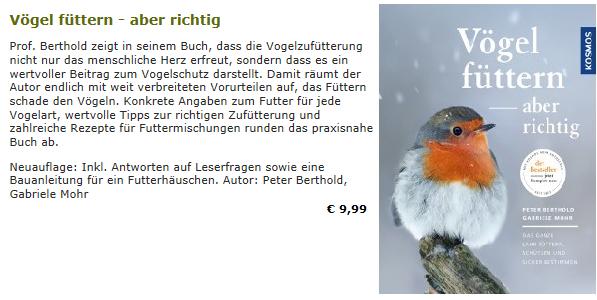 Vögel füttern - aber richtig